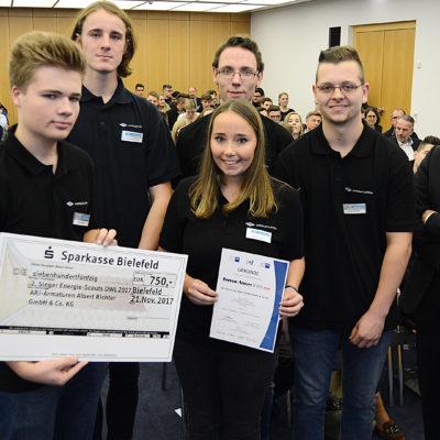 Platz 2: Die Azubi-Team von ARI-Armaturen Albert Richter GmbH & Co. KG