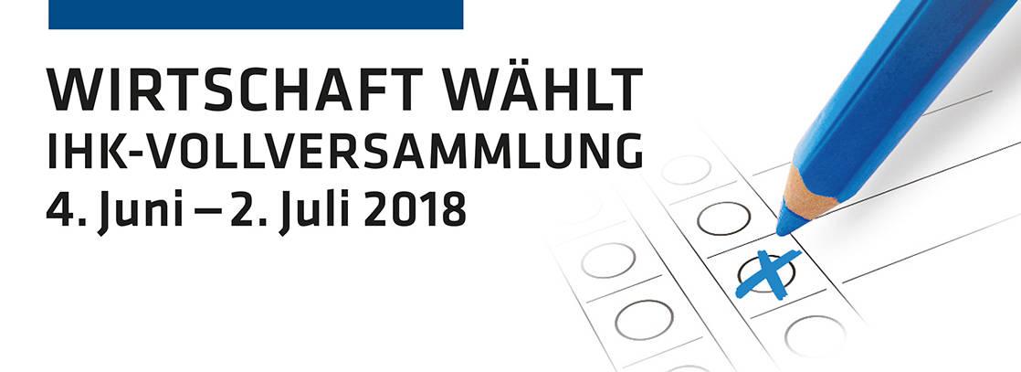 Vollversammlungswahl 2018 - Die Vollversammlung Ihrer Industrie- und Handelskammer bildet das Parlament der Wirtschaft in Ostwestfalen